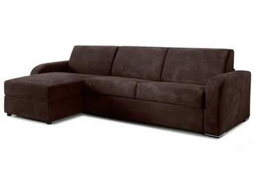 Canapé lit dangle avec coffre réversible en tissu microfibre