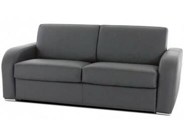 Canapé cuir haut de gamme italien Gris - Cuir deluxe 3 places