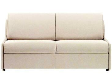 Canapé lit gain de place sans accoudoir 3 places - lit 140 cm Crème - Tissu coton