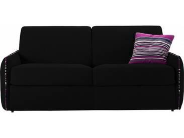 Petit canapé lit en tissu à ouverture rapido 2 places - lit 120 cm A12 - tissu fili noir