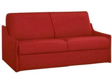 Canapé lit compact gain de place en cuir ouverture express 3 places - lit 140 cm Rouge - Cuir deluxe