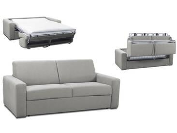 Canapé convertible rapido en tissu coton ouverture express 3 places - lit 140 cm Gris clair -Tissu coton