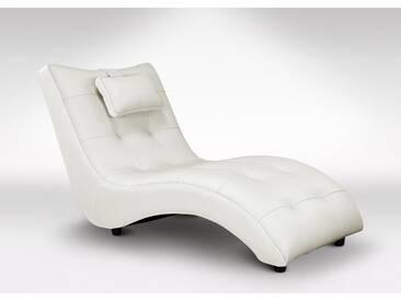 Chaise longue en cuir, fauteuil relaxation haut de gamme italien