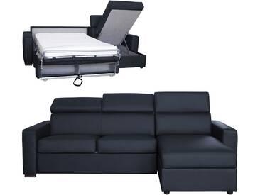 Canapé dangle convertible et réversible en cuir avec appui-têtes ajustables