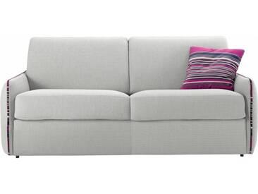 Petit canapé lit en tissu à ouverture rapido 3 places - lit 140 cm A09 - tissu fili gris clair