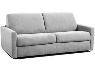 Petit canapé lit Rapido en microfibre avec matelas épais 18 cm 3 places - lit 140 cm Gris clair - Tissu microfibre