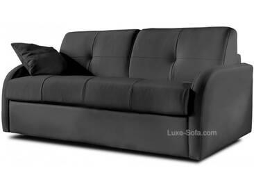 Canapé lit convertible en cuir pour couchage quotidien Gris anthracite - Cuir deluxe 3 places - lit 140 cm