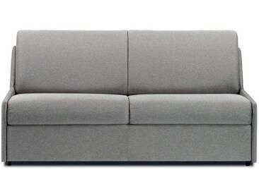 Canapé lit gain de place sans accoudoir 3 places - lit 140 cm Gris clair -Tissu coton