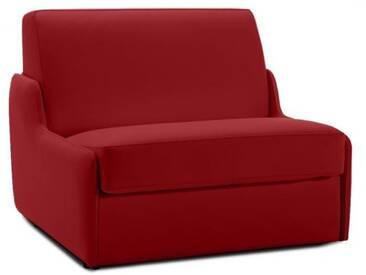 Fauteuil lit en cuir sans accoudoir 1 place - lit 75 cm Rouge - Cuir deluxe