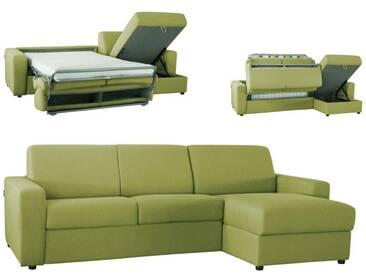 Canapé dangle convertible réversible en microfibre EXPRESS Vert - Tissu microfibre 5 places - lit 140 cm