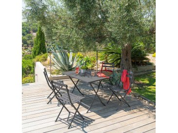 Table de jardin pliante rectangulaire Greensboro Graphite