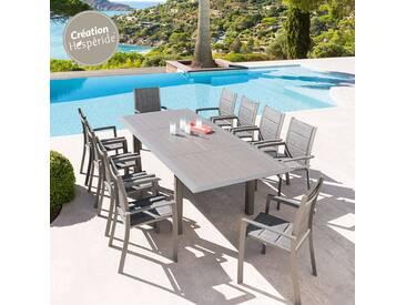 Table de jardin extensible Allure Gris & Mastic