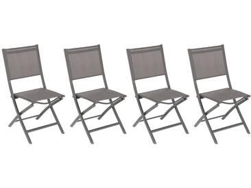 Lot de 4 chaises de jardin pliantes Essentia Wengé & Tonka