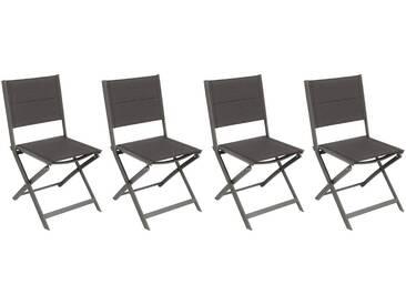 Lot de 4 chaises de jardin pliantes Allure Speculoos & Praline
