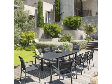 Table de jardin extensible Azua Graphite