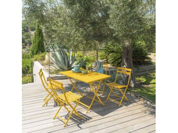 Table de jardin pliante rectangulaire Greensboro Moutarde