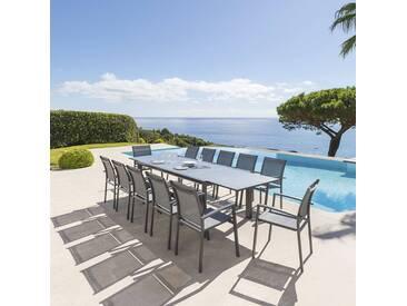 Table de jardin extensible Titanium Ardoise & Graphite