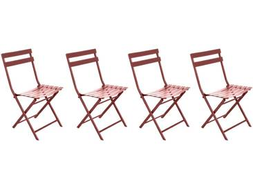 Lot de 4 chaises de jardin pliantes Greensboro Terracotta