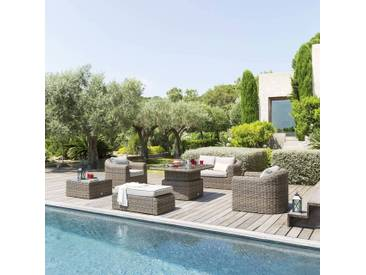 Table de salon de jardin relevable Mooréa Naturae