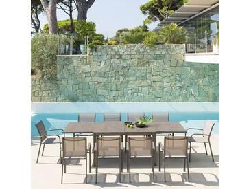 Table de jardin extensible Évasion Vert stone & Tonka