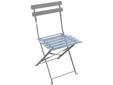 Lot de 2 chaises de jardin pliantes Camargue Ardoise mat