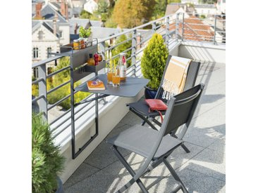 Tablette de balcon repliable Fira Graphite