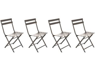 Lot de 4 chaises de jardin pliantes Greensboro Tonka