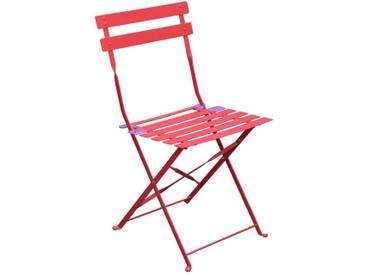 Lot de 2 chaises de jardin pliantes Camargue Groseille mat