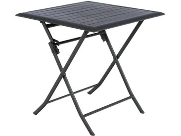 Table de jardin pliante carrée Azua Graphite