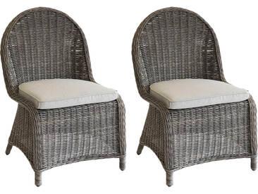 Lot de 2 chaises de jardin Bétong Bûche