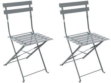 Lot de 2 chaises de jardin pliantes Camargue Graphite mat
