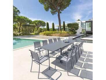 Table de jardin extensible Piazza Ardoise