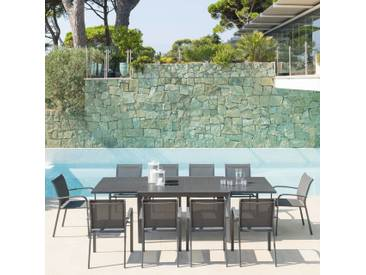 Table de jardin extensible Évasion Gris roc & Graphite