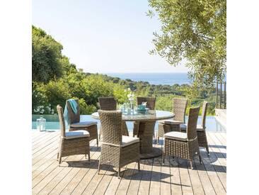 Table de jardin ronde Mooréa Naturae