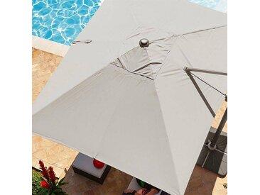 Toile de parasol déporté Fresno Taupe