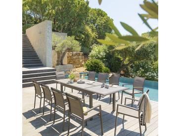 Table de jardin extensible Azua Gingembre & Tonka