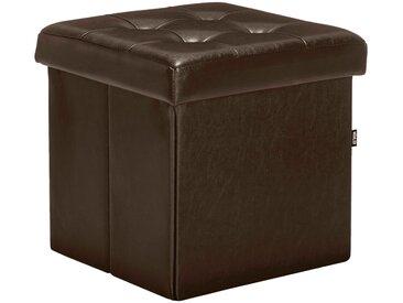 Pouf coffre coloris marron vieilli pliable Alinéa