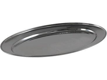 Plat ovale en acier inoxydable 45cm Alinéa