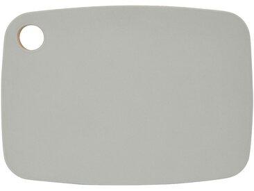Planche à découper bi-matière en bambou grise 25x18cm Alinéa