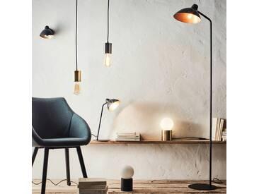 Lampadaire orientable en métal noir et doré H153cm Alinéa