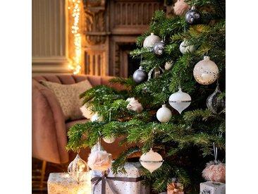 10 boules de Noël en verre blanc D6cm Alinéa