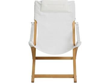 Fauteuil de jardin relax pliant blanc en acacia Alinéa