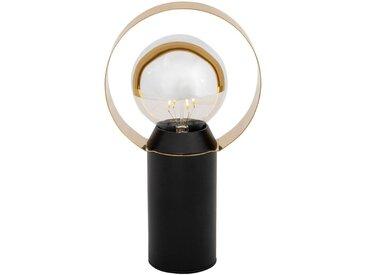Lampe en métal noir H26,5cm Alinéa