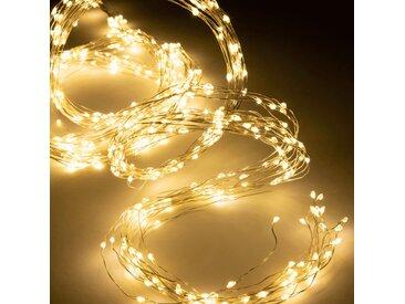 Guirlande lumineuse 220cm - 672 microLED blanc chaud Alinéa