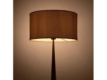Lampadaire en métal placage bois et abat-jour coton H177cm Alinéa