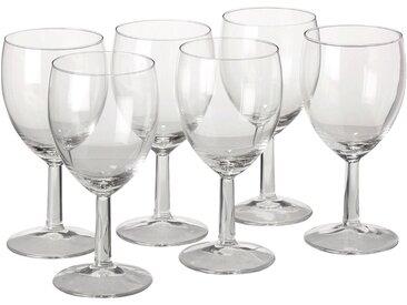 Lot de 6 verres à pied en verre 25cl Alinéa