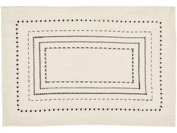Lot de 2 sets de table en coton blanc et noir 36x48cm (prix unitaire : 4.0 euros) Alinéa