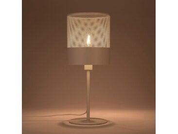 Lampe en métal blanc H40cm Alinéa