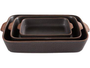 Plat à four noir en grès 34x21cm Alinéa