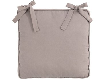 Lot de 2 galettes de chaise carrée en coton gris restanque 38x38cm (prix unitaire : 7.0 euros) Alinéa
